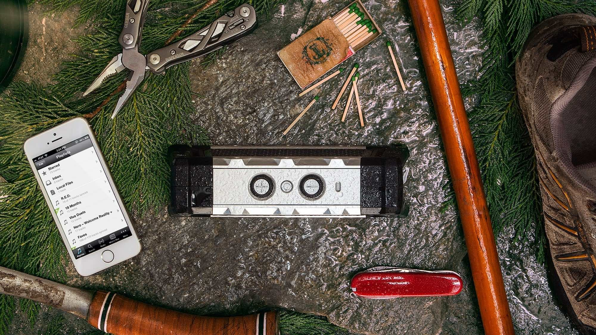 Fugoo Tough 2.0 rugged waterproof speaker is built to withstand extreme conditions