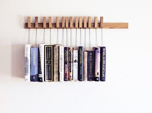 Wooden Book Rack in Oak