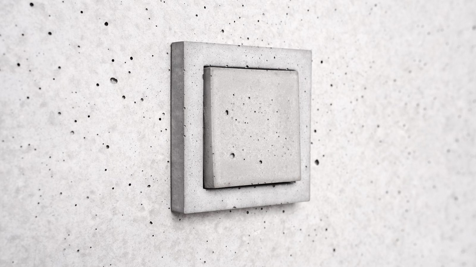 Sekhina concrete wall switch plates have a water-repelling agent