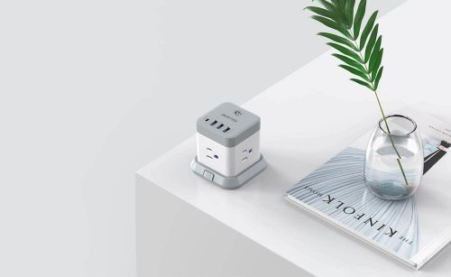 BESTEK Mountable USB Power Strip Cube has every port you need