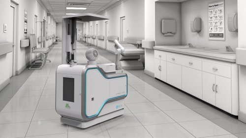 Hills Engineering COROBOT antivirus disinfection robot uses AI to project cleaning UV rays