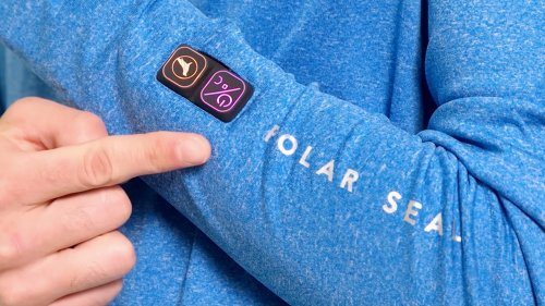 Polar Seal Heated Zip Top self-warming shirt creates instant heat at the touch of a button
