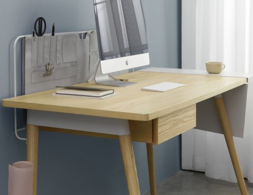 Mario Tsai Pure Desk Handcrafted Wooden Workspace combines elegancy and efficiency