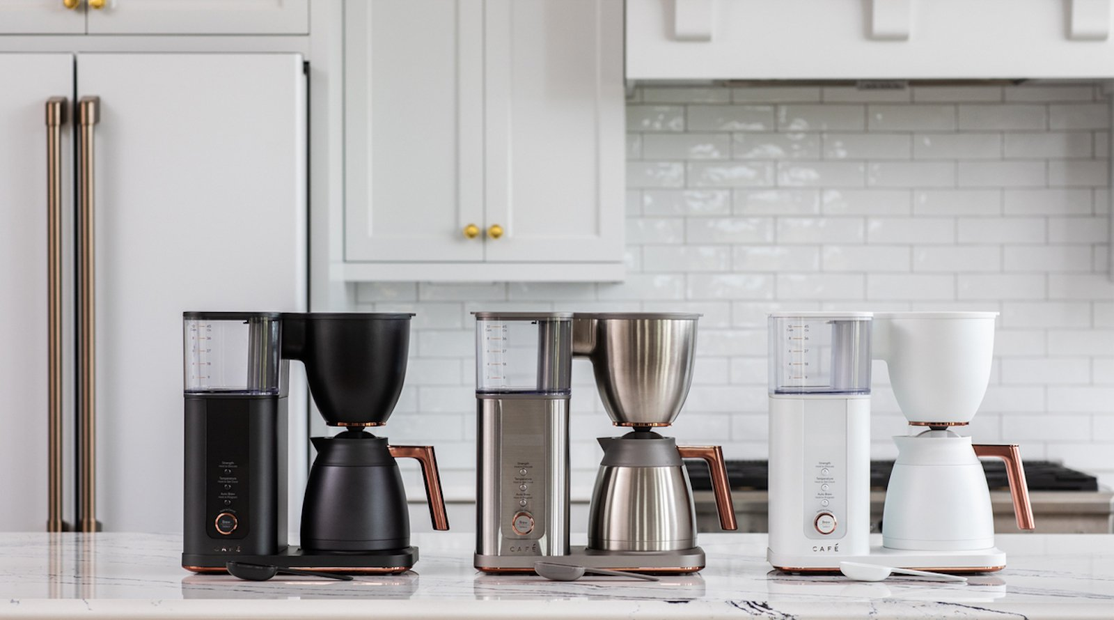 Café Appliances Specialty Drip Smart Coffee Maker has built-in Wi-Fi for voice control
