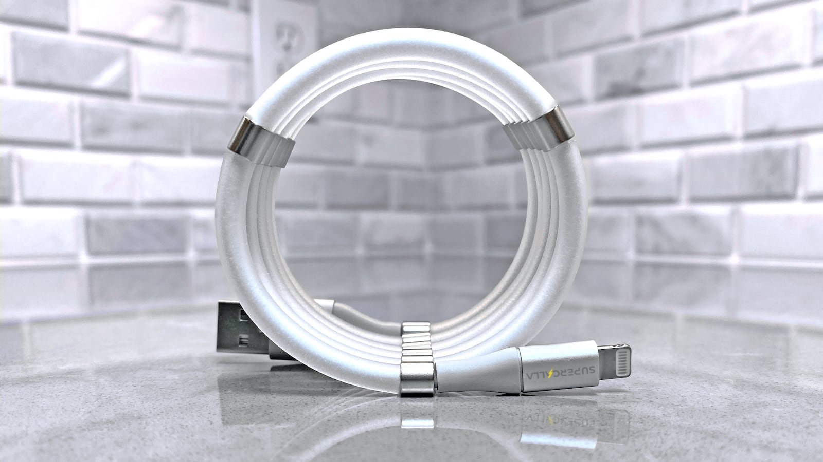 SuperCalla Easy-Coil Charging Cables will keep everything neat and tidy