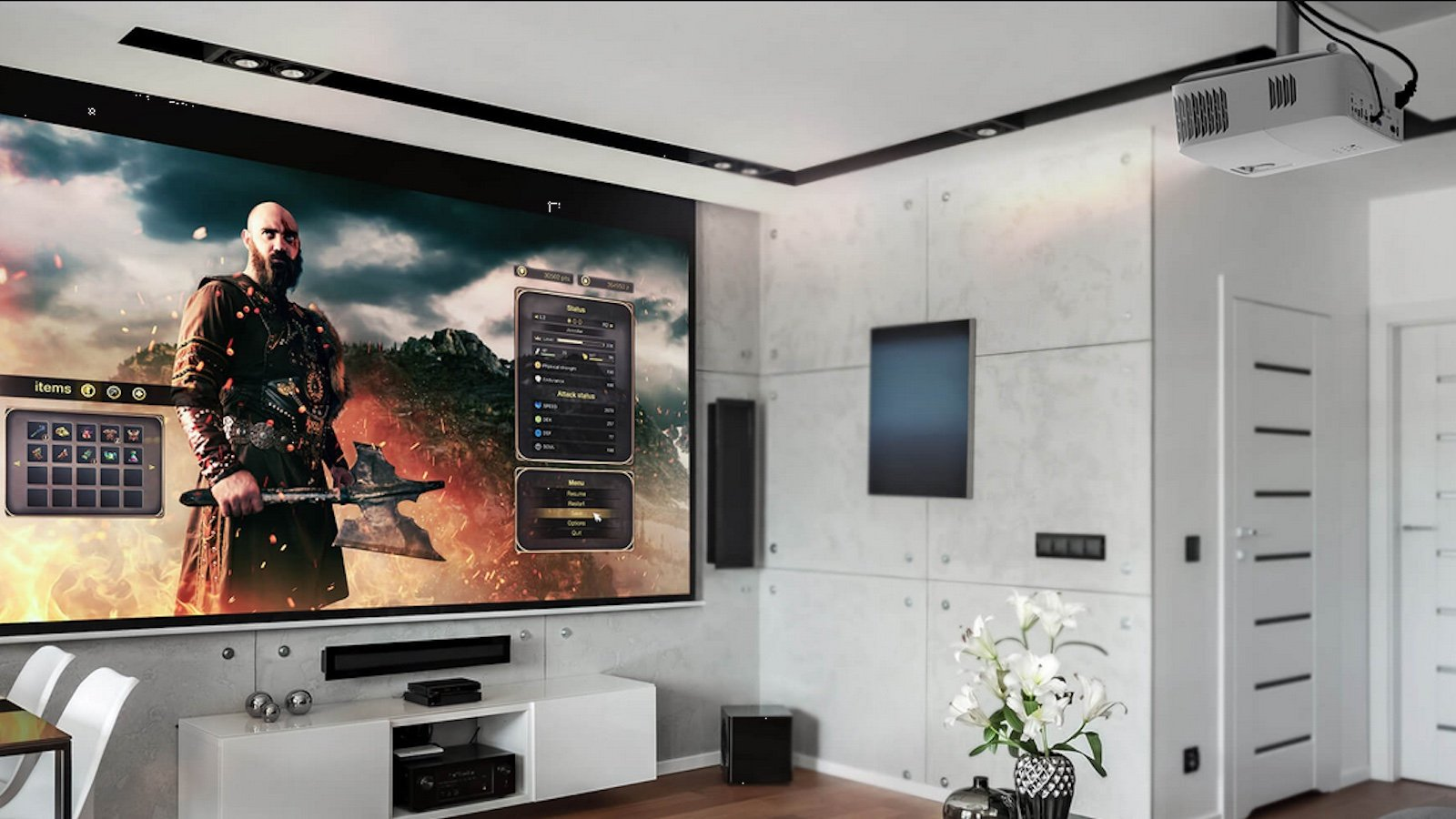 Optoma UHD50X 240 Hz Projector produces a screen up to 302.4″ in size