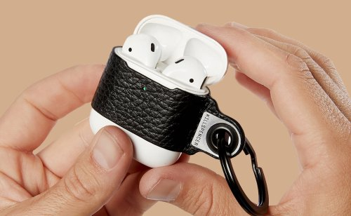 KILLSPENCER Leather AirPods Keychain keeps your headphones where you need them