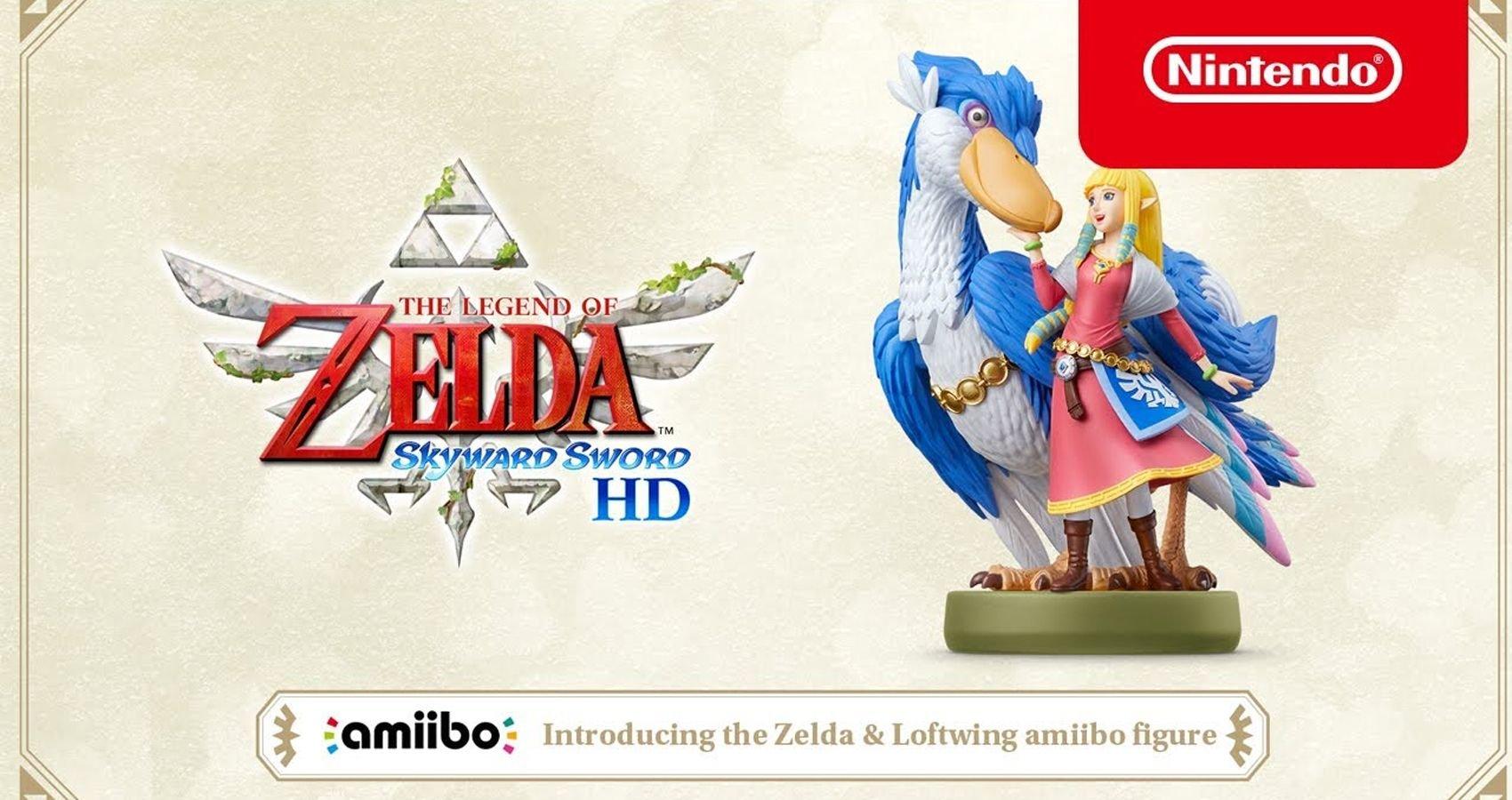 Zelda & Loftwing Amiibo Announced For Legend Of Zelda: Skyward Sword HD
