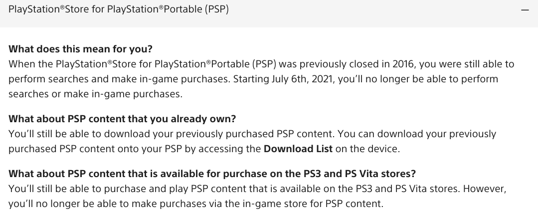 PSP Games Can Be Bought From The PS3 And PS Vita Store