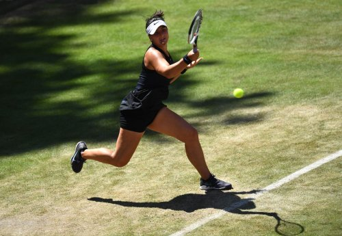 Bianca Andreescu wins her opening match at Wimbledon tune-up event