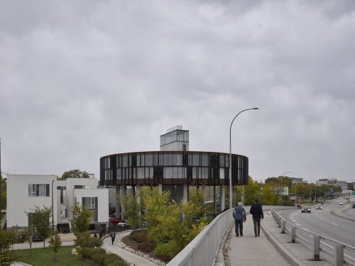 Winnipeg condo on a very challenging site an exercise in designing wonderful on a dime