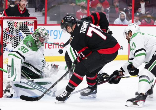 Chris Tierney scores two power-play goals in 2nd period, Senators beat Stars