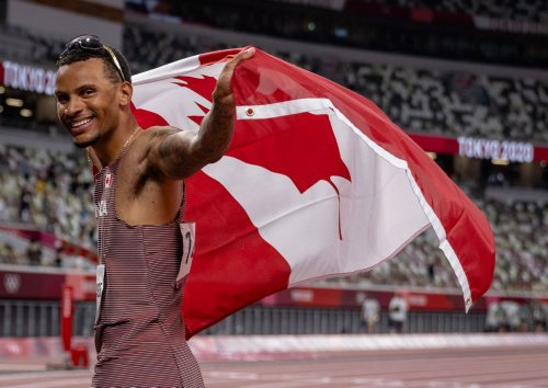 Canada's Andre De Grasse wins 100-metre Tokyo Olympic bronze in one of the most eerie and unsettled men's finals