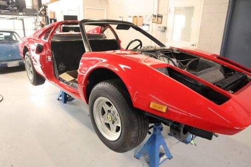 I've given up on a timeline for the restoration of this vintage 1978 Ferrari