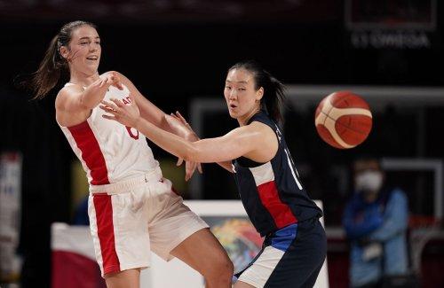 Canada's women's basketball team beats South Korea at Tokyo Olympics