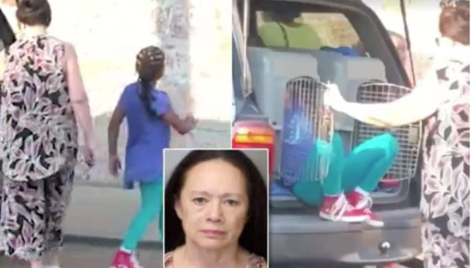 Horrifying video shows woman letting grandchildren out of dog cages in her truck - TheGrio