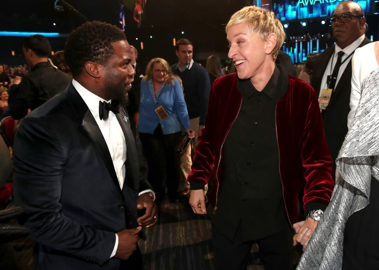 Kevin Hart spotted with Ellen DeGeneres after defending her from toxic workplace allegations