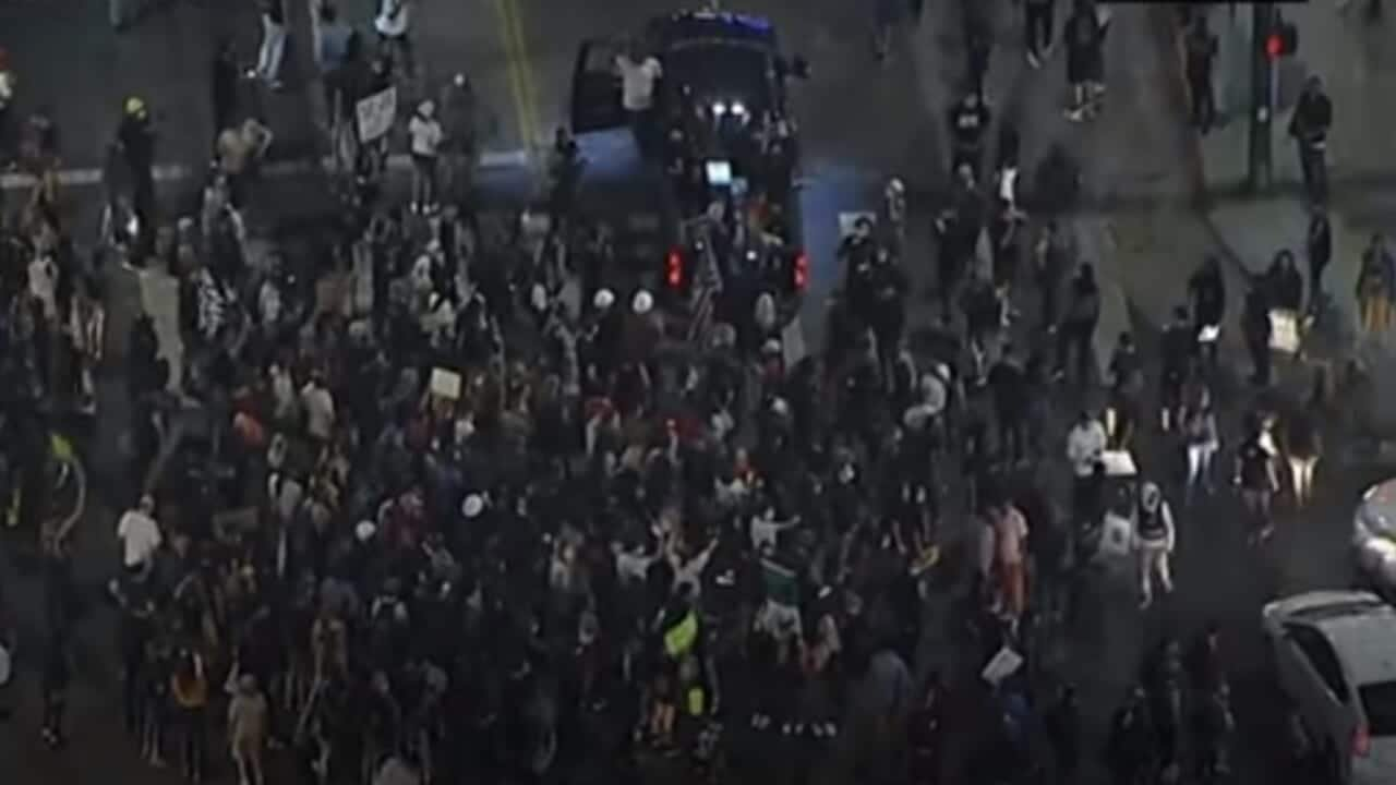 Truck runs into Breonna Taylor protest in L.A.; 1 person injured