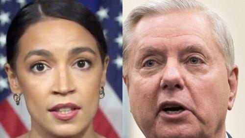 AOC responds to Lindsey Graham's attack on her at senate debate