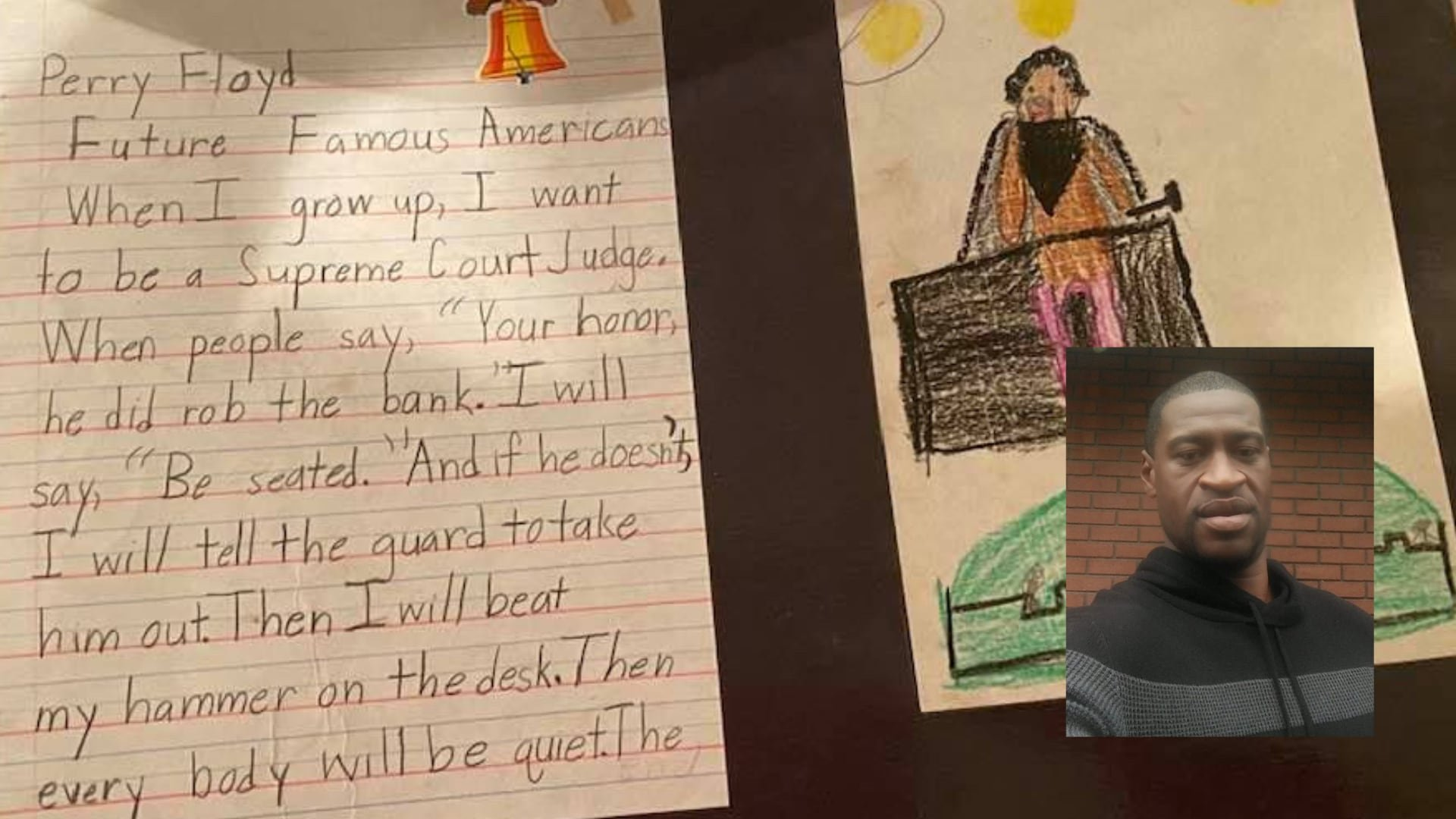 George Floyd's 2nd grade essay reveals he wanted to be a Supreme Court justice