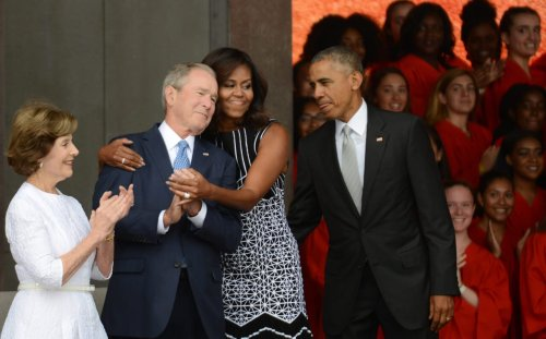 Bush surprised by reaction to his friendship with Michelle Obama