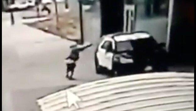 Manhunt ensues after LA County deputies are 'ambushed' in patrol car