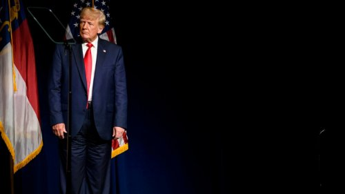 Twitter users speculate if Trump wore pants backward in Saturday speech
