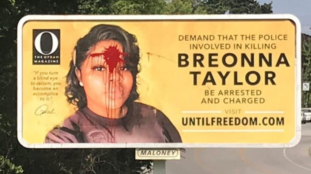Breonna Taylor billboard vandalized in Louisville