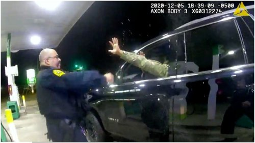 Video goes viral of uniformed Black Army officer held at gunpoint, pepper sprayed by police