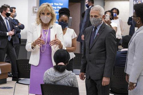 Jill Biden, Dr. Fauci visit vaccine site at Harlem church - TheGrio