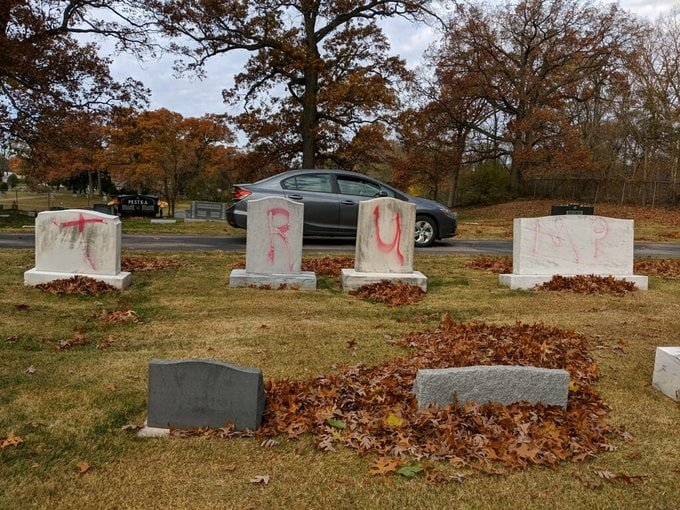 Jewish cemetery vandalized with Trump graffiti