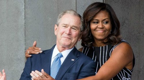 Bush says he doesn't criticize other presidents to avoid risking friendship with Michelle Obama