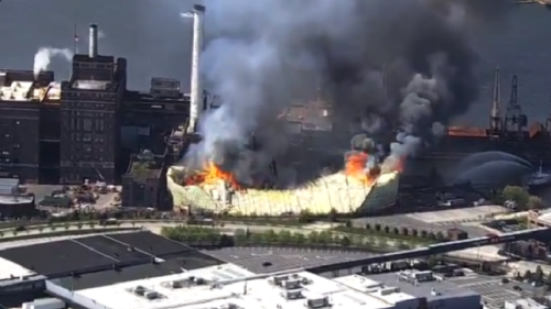 Domino Sugar refinery in Baltimore goes up in flames
