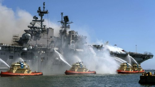 Navy charges sailor with starting days-long fire that destroyed USS Bonhomme Richard