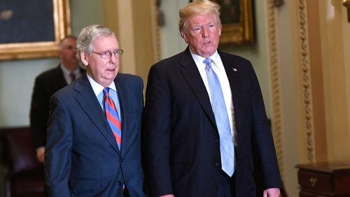 Trump rips McConnell in speech to Republicans