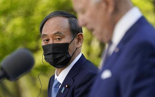 Biden hosts Japan's Suga for first White House summit; China tops agenda