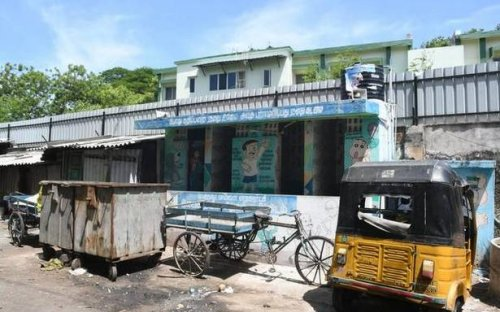 Public toilets for children in slums near Central railway station in disuse