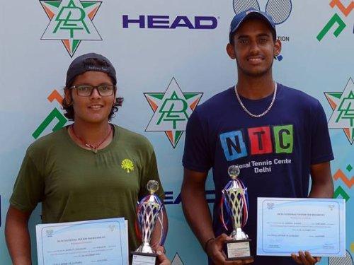 Karan and Shruti shine at National junior tennis championships