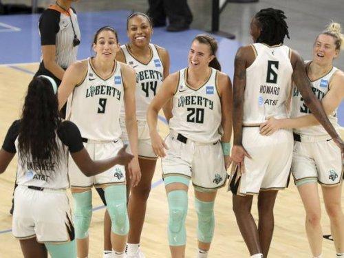 Liberty beats Sparks in WNBA celebratory matchup