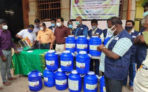 600 litres of used oil collected from Meenakshi temple