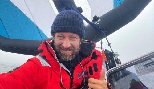 Chris Bertish Sets World Record for Longest Distance Unsupported by Wing Foil; Forced to Suspend Pacific Crossing