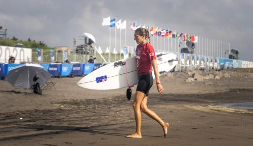 Big Names Including Steph Gilmore, Julian Wilson Eliminated in Unruly Surf at Olympic Venue in Japan | The Inertia
