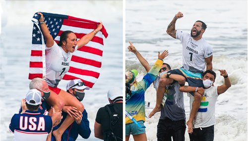 Carissa Moore and Italo Ferreira Win Surfing's First Gold Medals at Tokyo Olympics | The Inertia