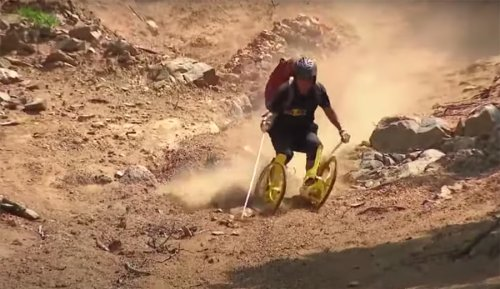This Guy Likes to Ride Dirt in a Cross Between Skiing and Rollerblading | The Inertia