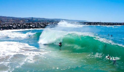 Jamie O'Brien at the Wedge: 'the Best Barrels I've Seen in California'
