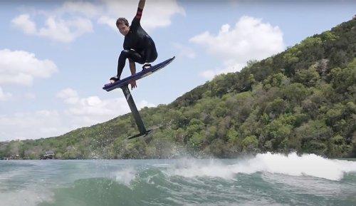 Kai Lenny Foiling Behind a $290,000 Malibu Wake Boat