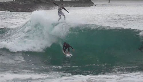 Mason Ho Surfing the Wedge With Blair Conklin Was One of the Craziest Days We've Seen
