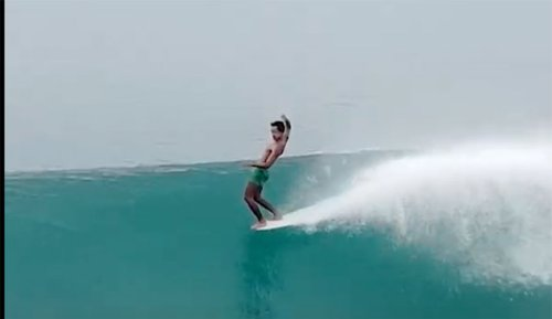 A 17 Second Clip of a Single, Dreamy Longboard Wave at Nias