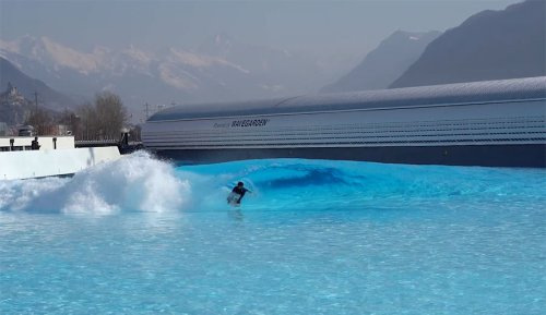 New Wavegarden Wave Pool Opens in the Swiss Alps