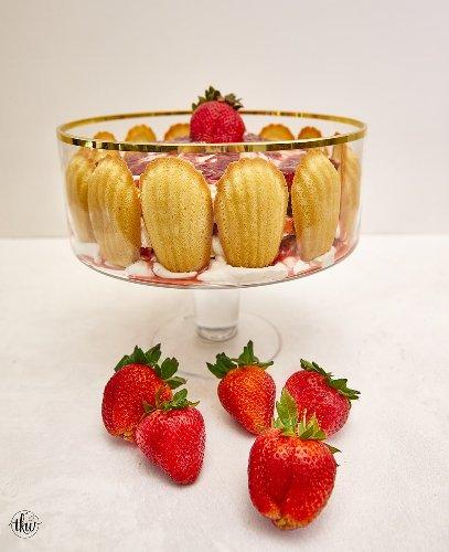 Strawberry Madeleine Trifle